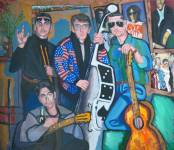 Дима Гура, Music Band, холст/масло, 1999, 72×83.